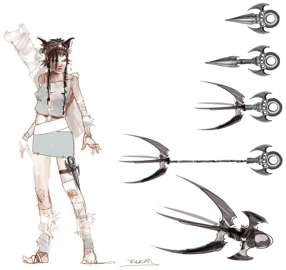 Heavenly Sword - Kai w Weapons | Concept / Characters ...