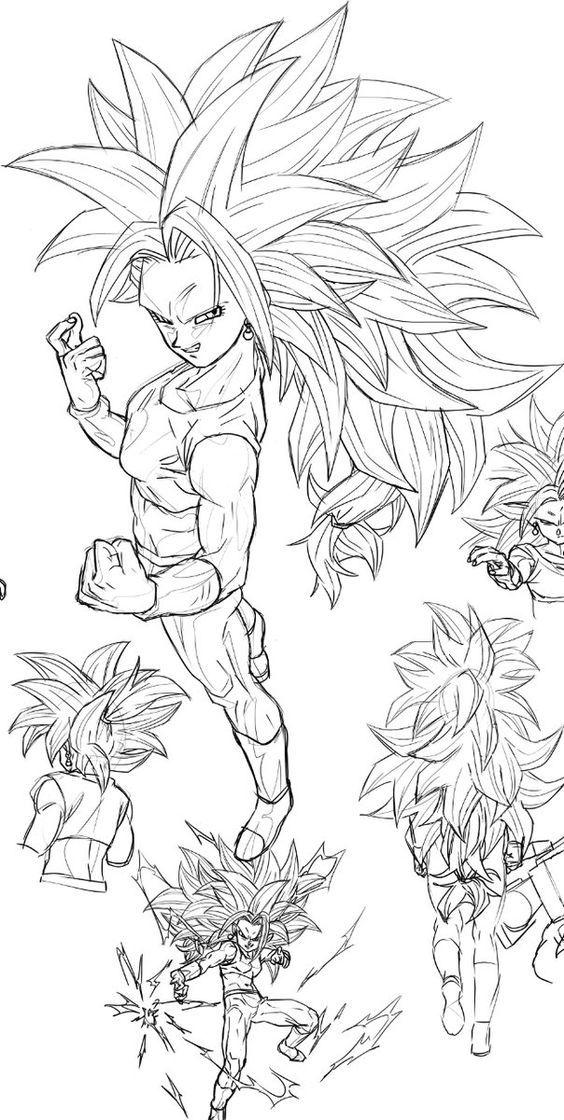 como desenhar goku nível instinto supremo dragonballz