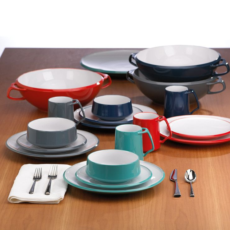 Kobenstyle cookware has been coveted by collectors and cooks since Dansk introduced its Jens Quistgaard designs in 1956. Inspired by the mid-century ...  sc 1 st  Pinterest & Kobenstyle 4 Piece Setting Teal | Entrees Cookware and Stoneware