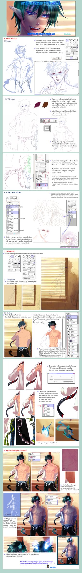 Step by Step Tutorial - My way - Rin Okumura by Rin-Shiba on DeviantArt