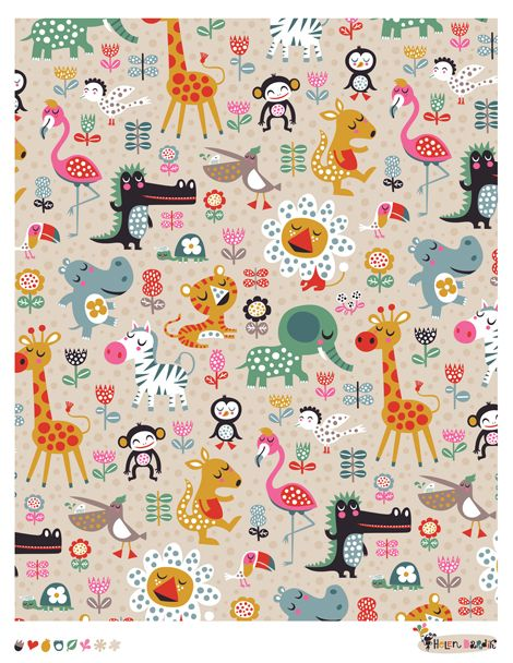 Blooming Zoo - pattern by helen dardik