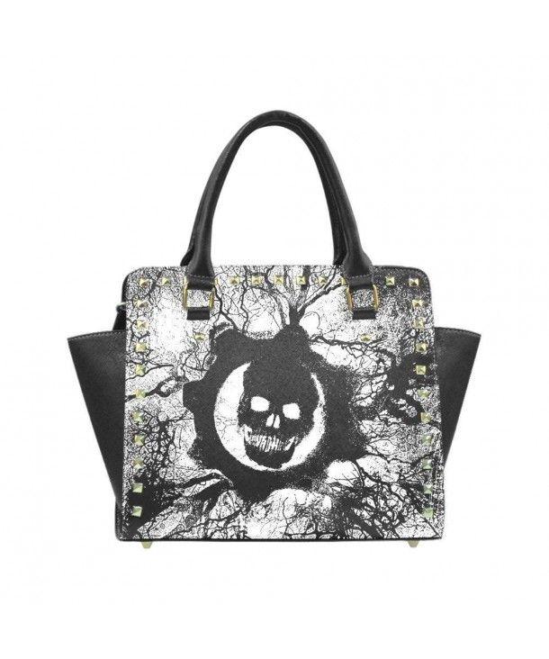 Monkey Flower Giraffe Handbags Purses Totes Leather Shoulder Bags Top Satchel Rivet Womens
