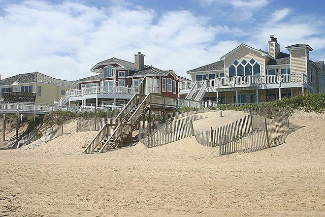 Beach Houses In Nags Head Nc By Mikelynaugh Via Flickr