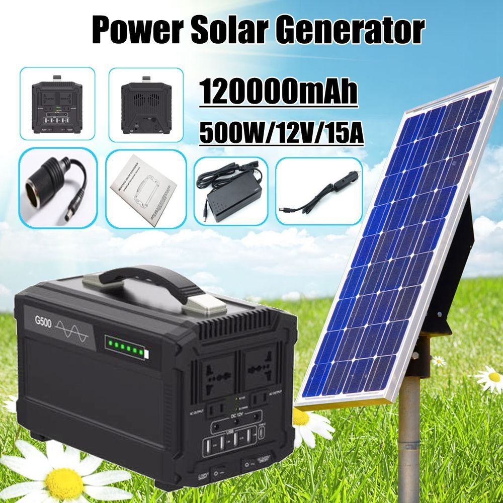 Capacity 120000mah 444wh 1 X Solar Generator Input Adapter 15v4a Solar Panel 18v 3a 2 3 Dc12v 12a Faster Charging For Solar Panels Solar Generator Solar