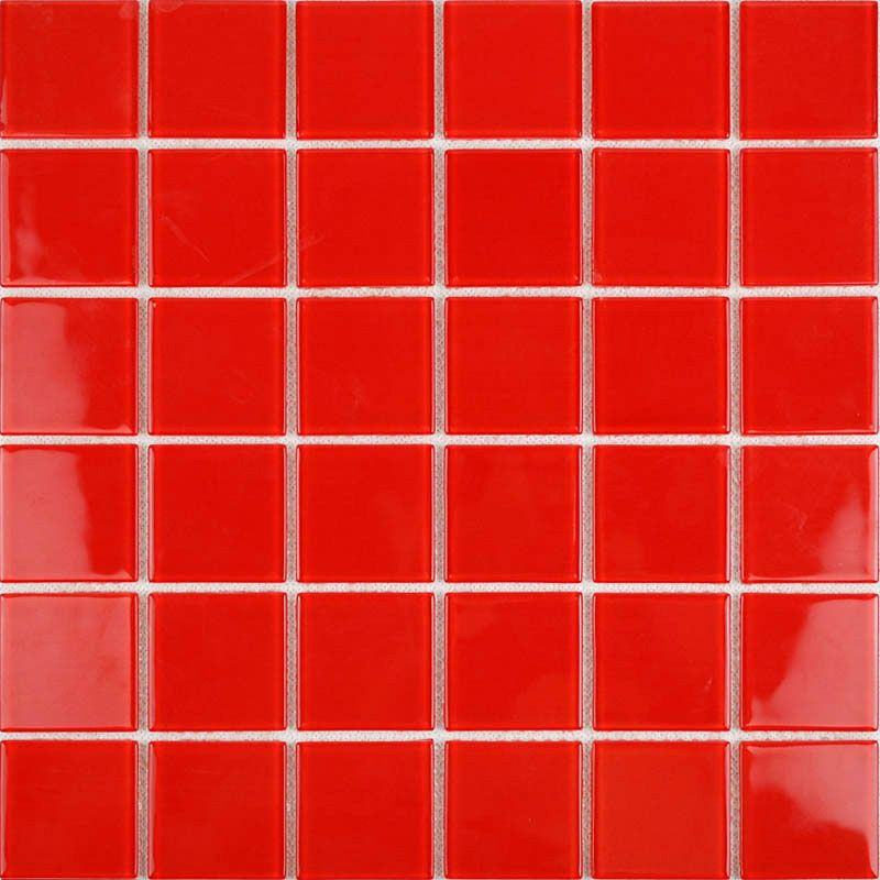 Bathroom Tiles Red vitreous mosaic tile crystal glass backsplash of kitchen design