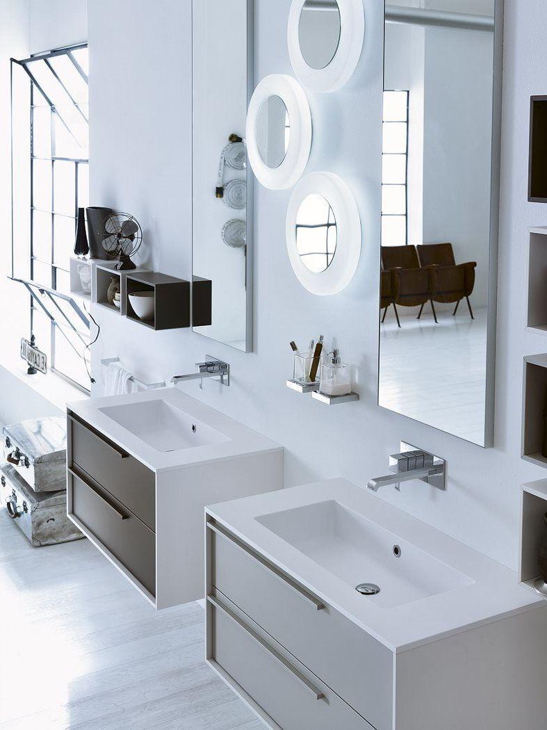 Badezimmer mit 2 waschtischen badezimmermöbel  fühlen sie sich wohl in ihrem wellness lounge