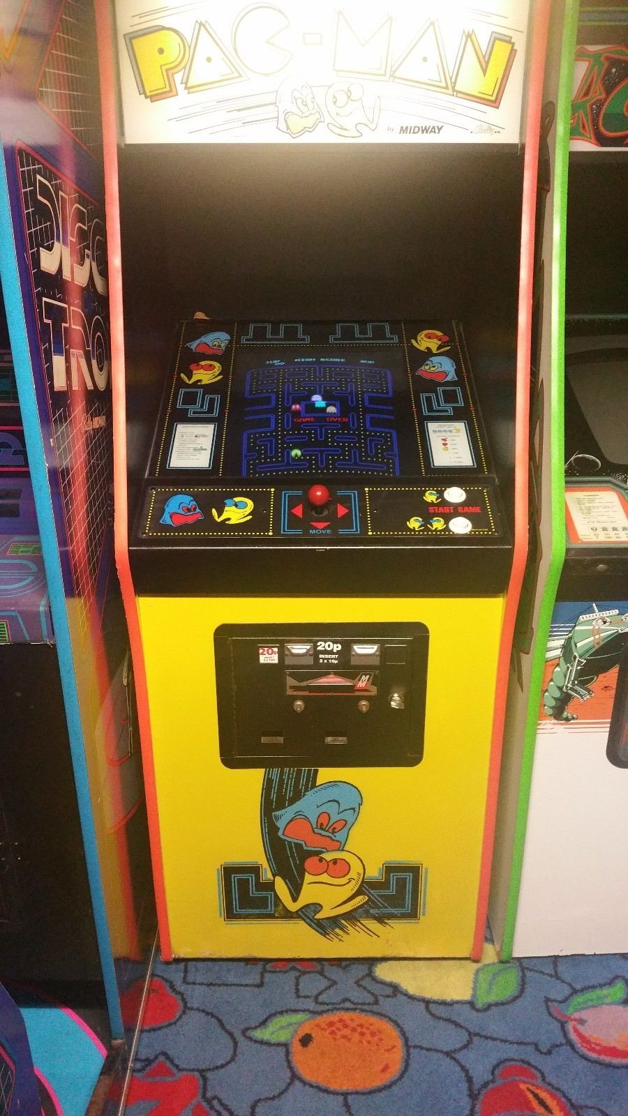 Bally/Midway PACMAN arcade machine for sale on eBay (as of