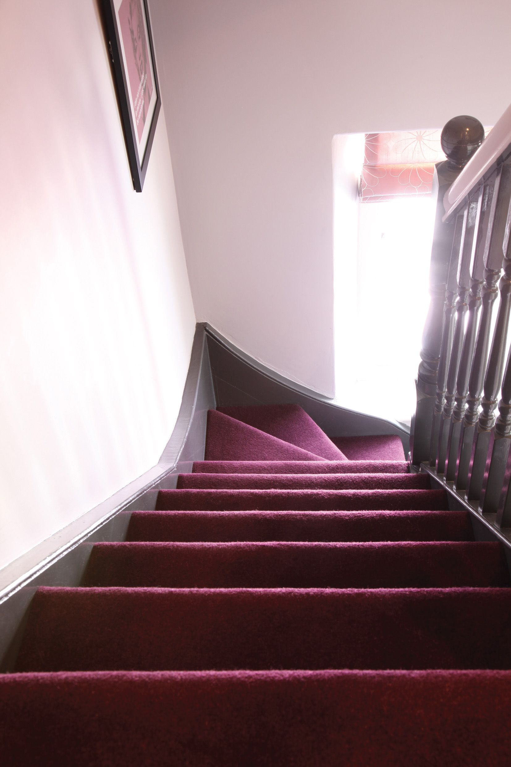 Best Deep Purple Staircase Carpet By Hardy Carpets How To 400 x 300