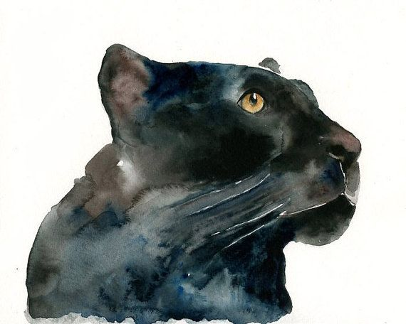 af1ecc0d5c3fc Watercolor Panther | Amazing Art | Watercolor paintings, Panther ...