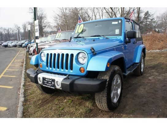 Surf Blue Pearl Coat Used 2010 Jeep Wrangler Sahara For Sale In Little Falls,  NJ