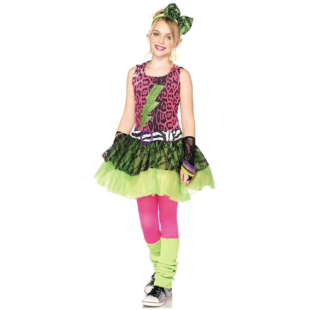 Totally 80s Amy Costume Kids Pop Star Valley Girl Madonna Halloween Fancy Dress  sc 1 st  Pinterest : kids pop star costume  - Germanpascual.Com