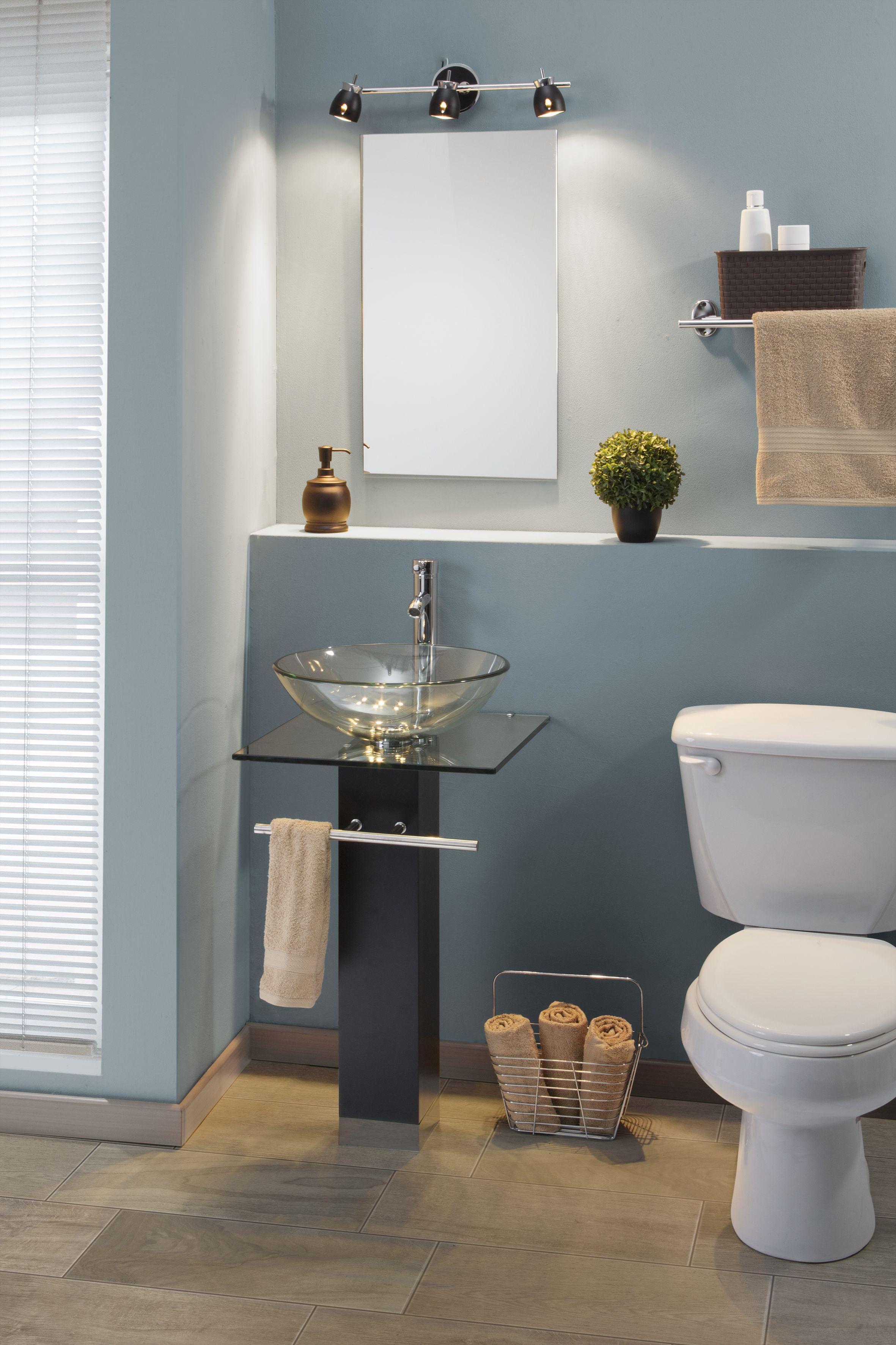 Gabinete para ba o maki que incluye lavabo de vidrio for Imagenes de muebles de bano