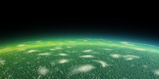Ultra HD Wallpapers 8K UHD 3D Green Alien Orbit