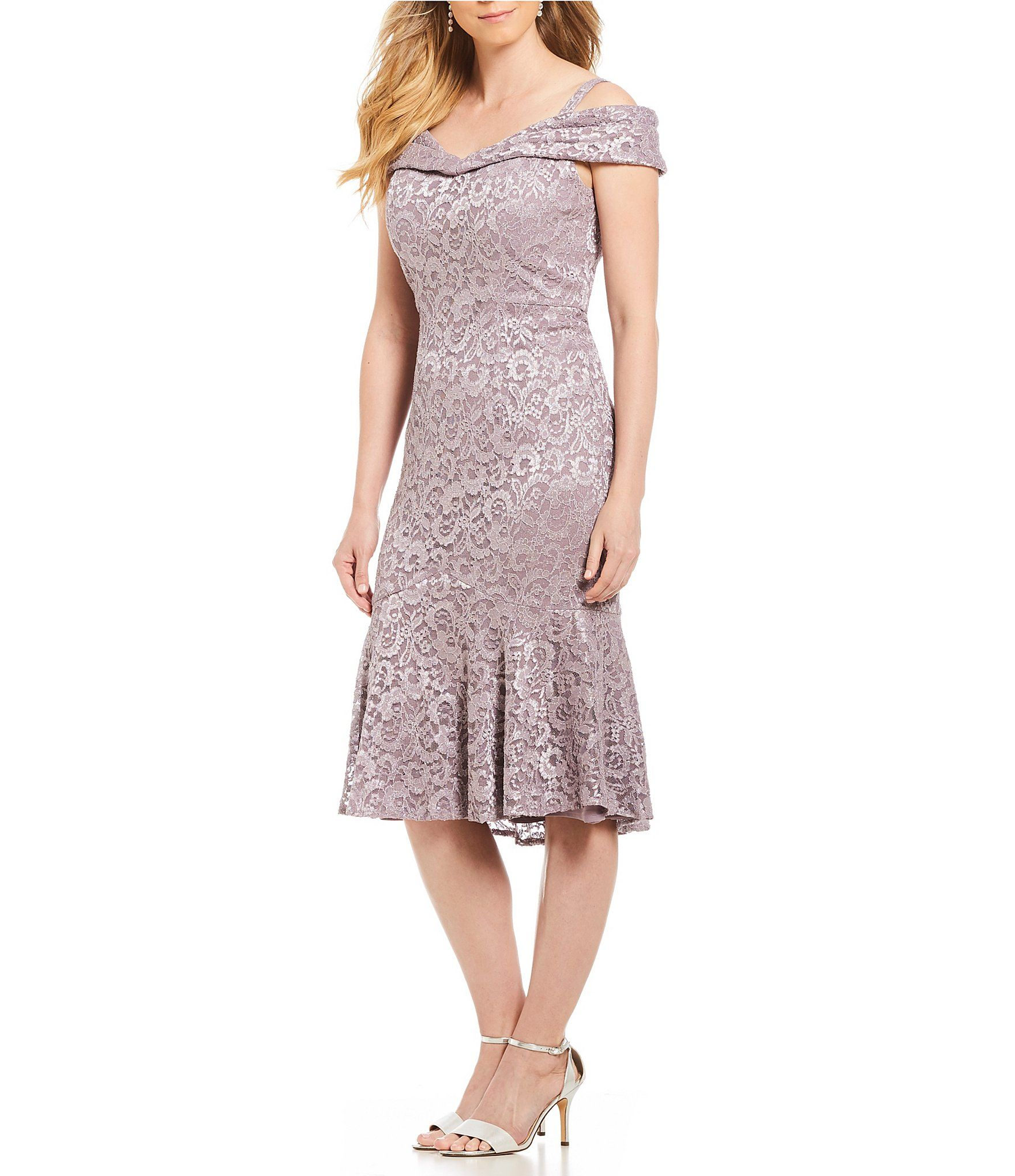 e69d4dfc3d7 Shop for R   M Richards Off-The-Shoulder Sweetheart Lace Dress at  Dillards.com. Visit Dillards.com to find clothing