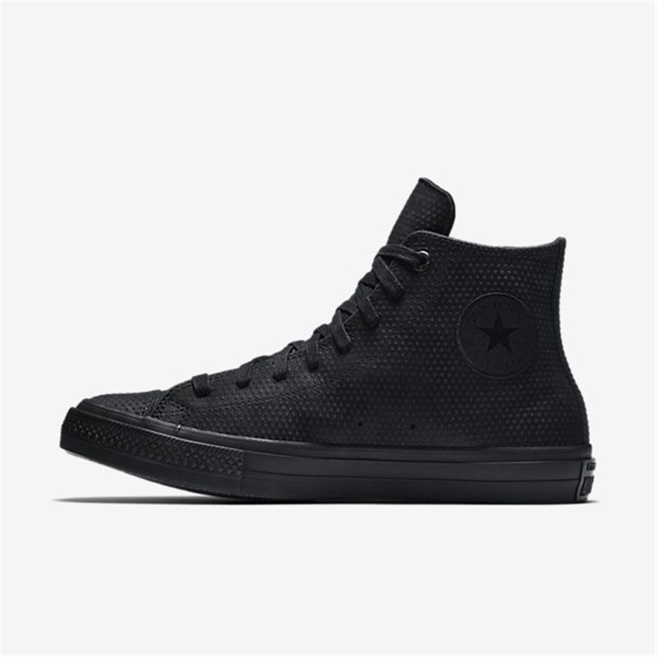 d1b17a17b5137d NIKE Converse Chuck II Lux Leather High Top (Black   Black)