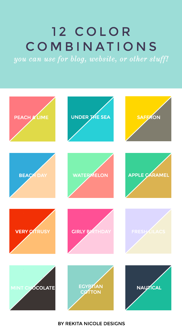 Colours And Moods 12 color combinations | design color, color combos and website