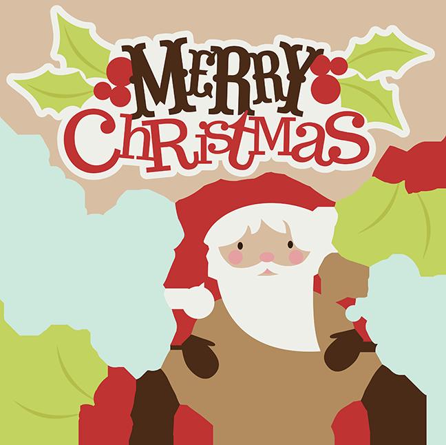 Merry Christmas SVG christmas clipart santa svg santa