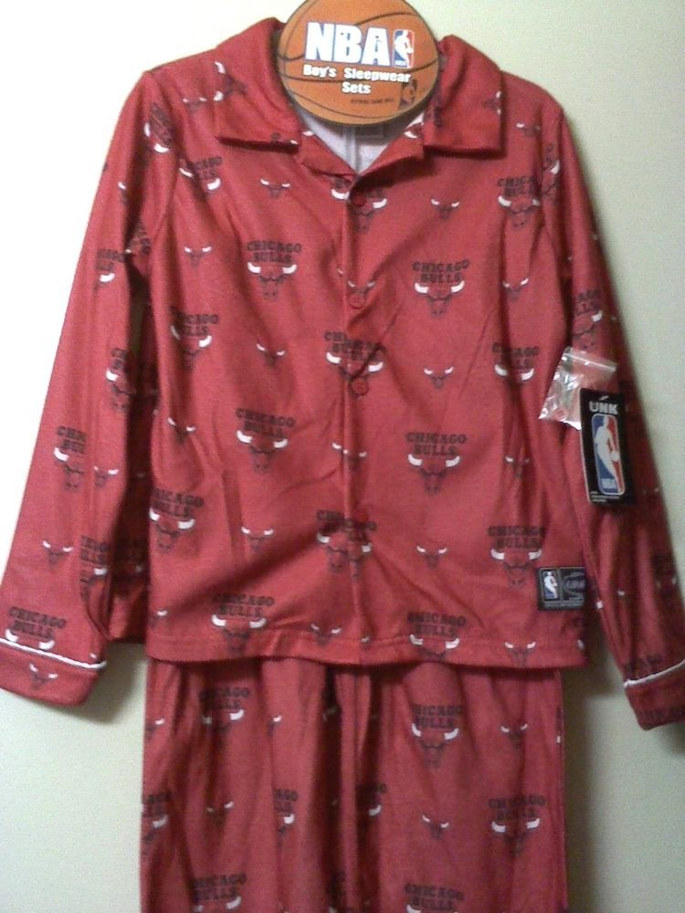 BOYS NBA CHICAGO BULLS PAJAMAS SIZE 12 14 LARGE SLEEPWEAR Set NWT  NBA   PajamaSet 64869843f4a0