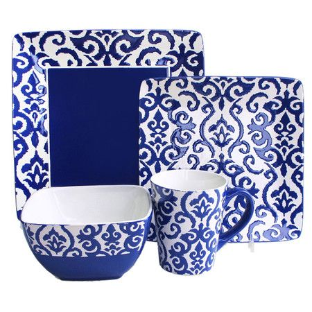 An elegant stage for your culinary creations this eye-catching earthenware dinnerware set showcases  sc 1 st  Pinterest & An elegant stage for your culinary creations this eye-catching ...