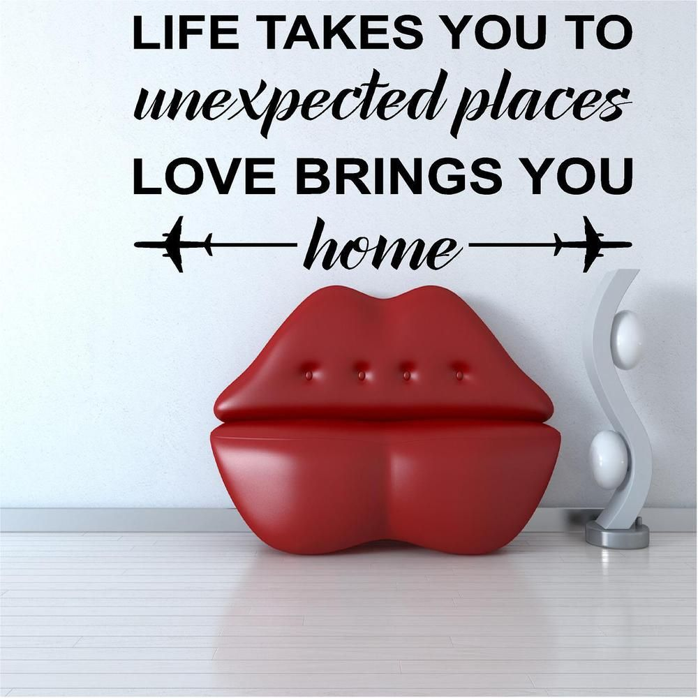 Life Takes You Custom Vinyl Wall Decals Stick On Wall Art Wall