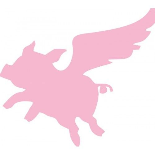 Cute Flying Pig Outline Vinyl Decal Sticker 27 COLORS ...