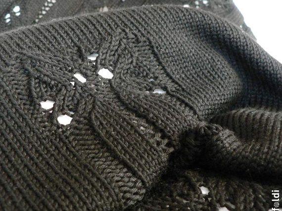 Lacet en tricot écharpe écharpe de dentelle de laine par foldi