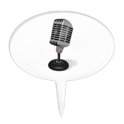 Radio Microphone Cake Topper - kitchen gifts diy ideas ...