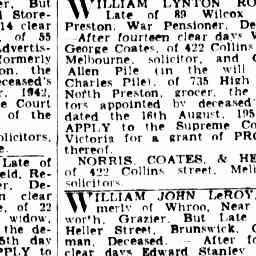 Advertising The Argus Melbourne Vic 1848 1957 9 Oct 1952 Advertising Preston Wilcox