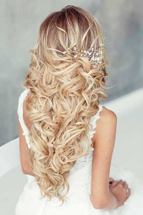 2017 Wedding Hairstyles 40 Best Wedding Hairstyles For Long Hair Long Hairstyles 2017 Long Hair Styles Hair Styles Romantic Wedding Hair