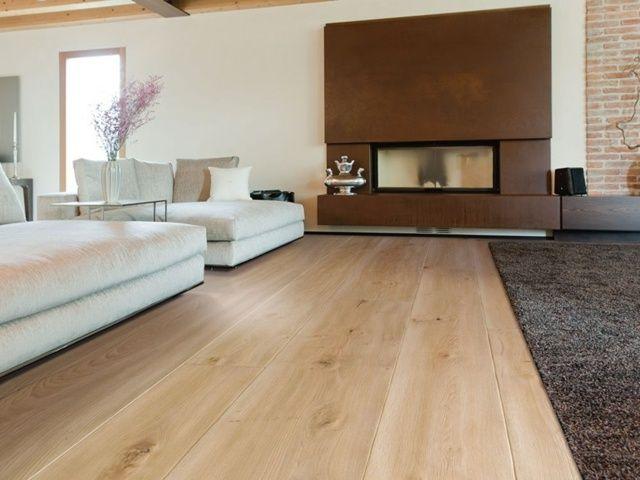 Dielenboden Belag Wohnzimmer Stilvoll Einrichten Kamin Wohnung - Fliesen die aussehen wie parkett