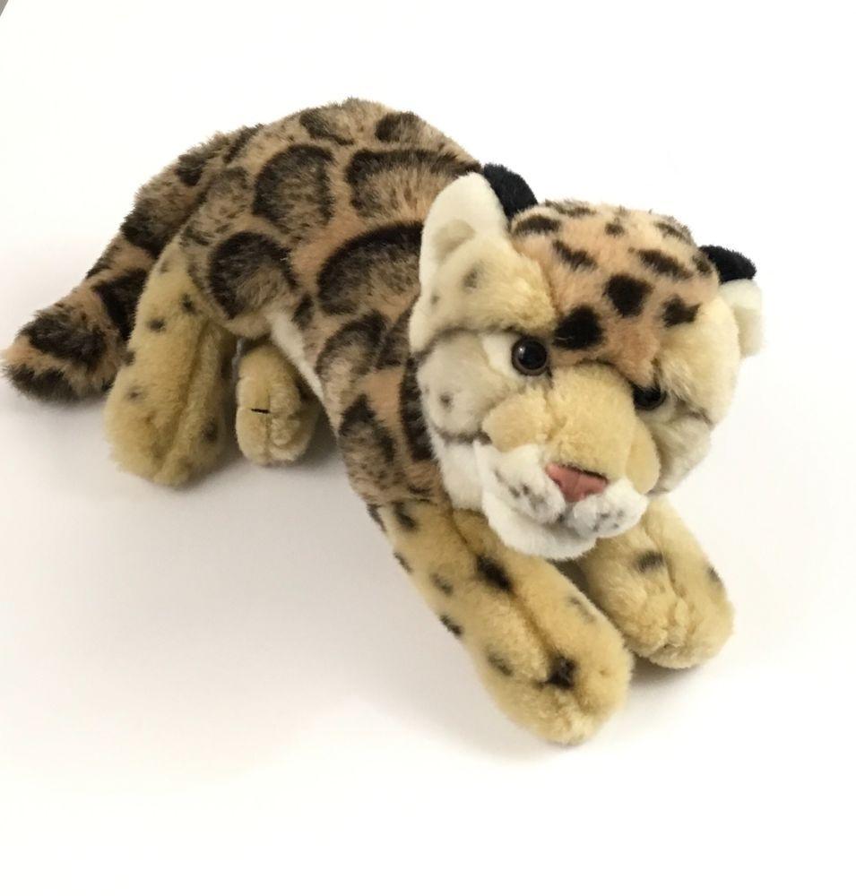 Ganz Webkinz Signature Endangered Clouded Leopard Gold Foot Wkse3004
