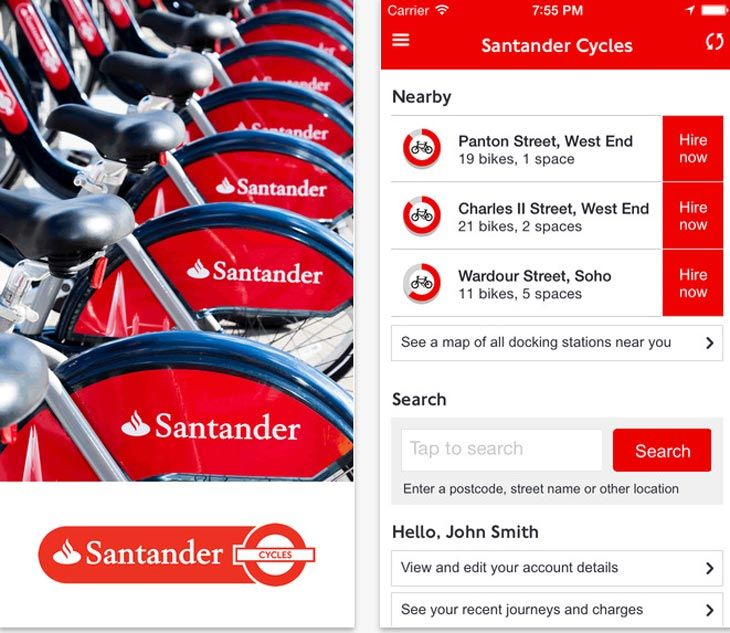Cycle Hire In London Made Easy With Santander Cycles App