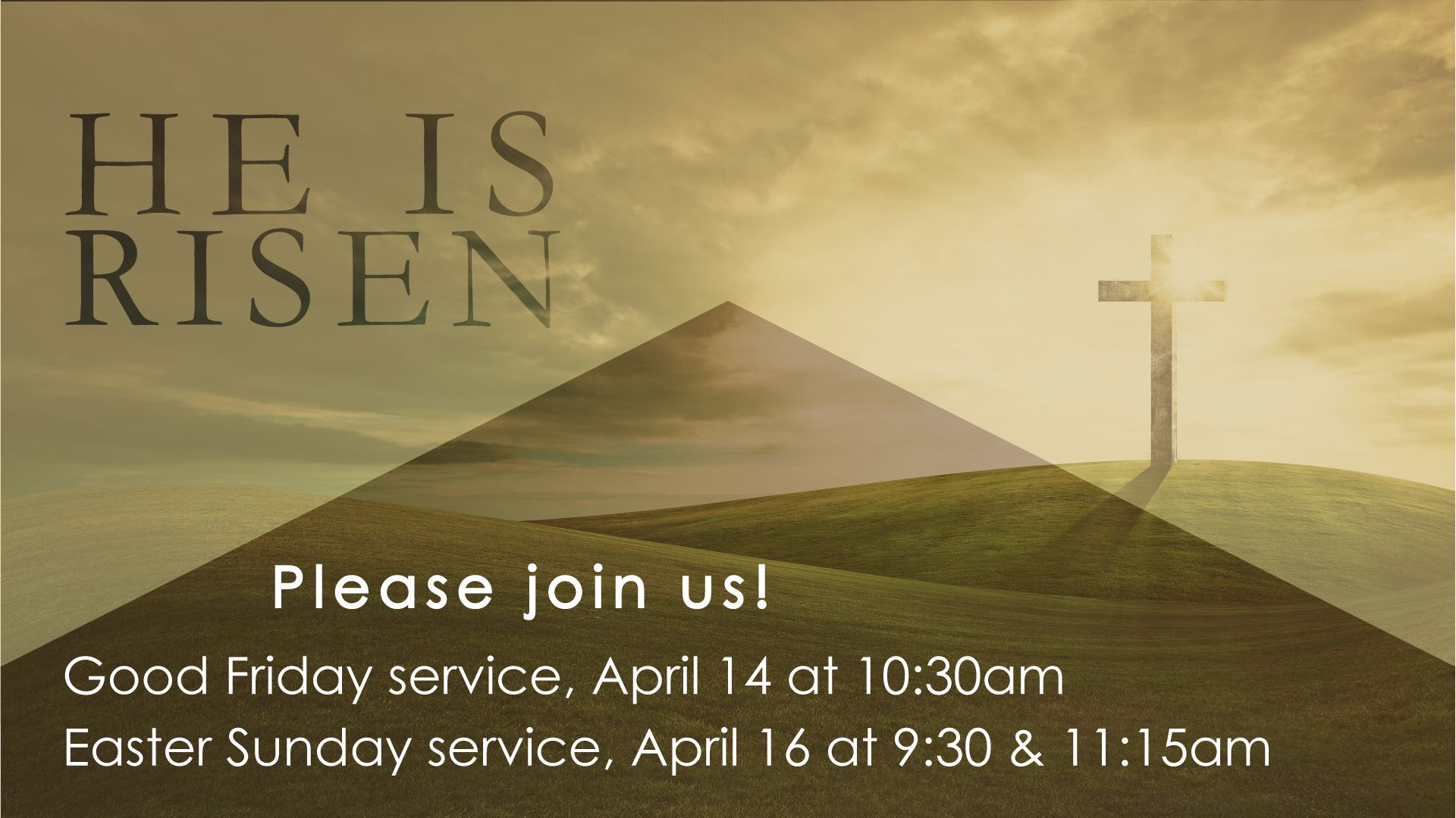 Church announcements announcement backgrounds sharefaith page 2 - Church Announcement Slide Easter Service Times He Is Risen