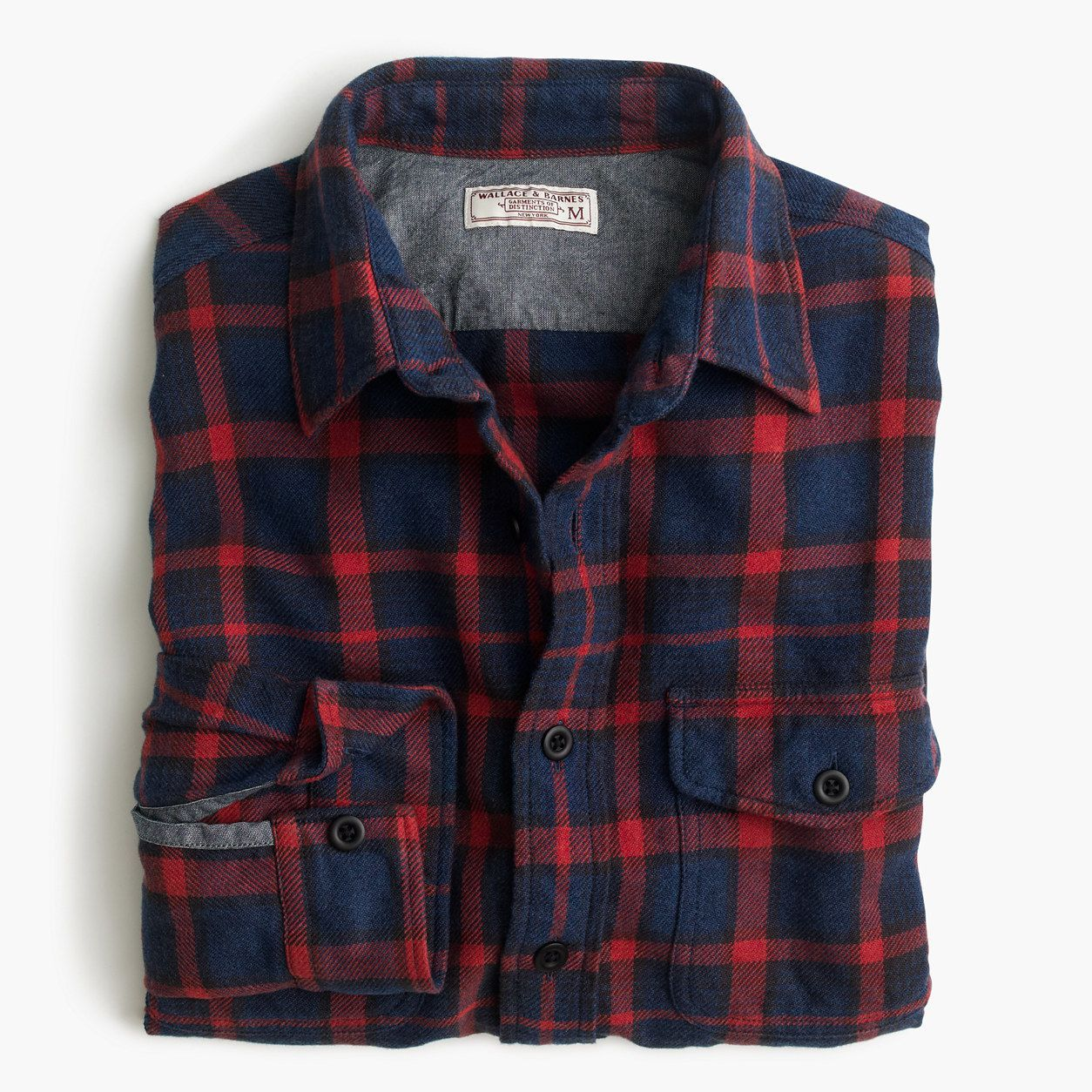Navy blue flannel shirt womens  Wallace u Barnes flannel shirt in navyandred plaid  Products
