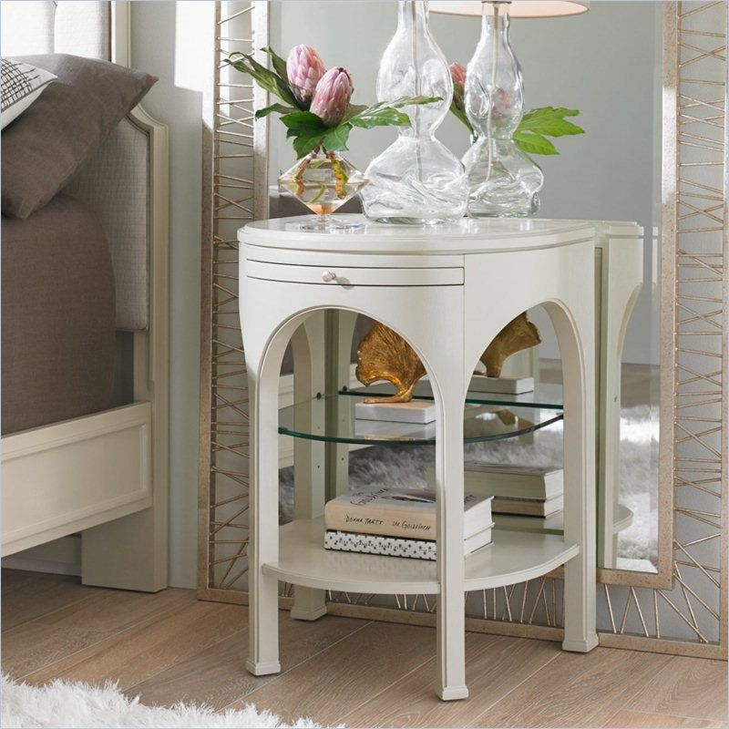 Crestaire - Alexander Telephone Table in Capiz - 436-23-81 - night stand - Stanley Furniture