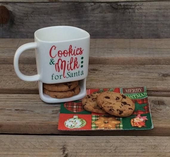 Milk And Cookies For Santa Cookie Mug Christmas Products