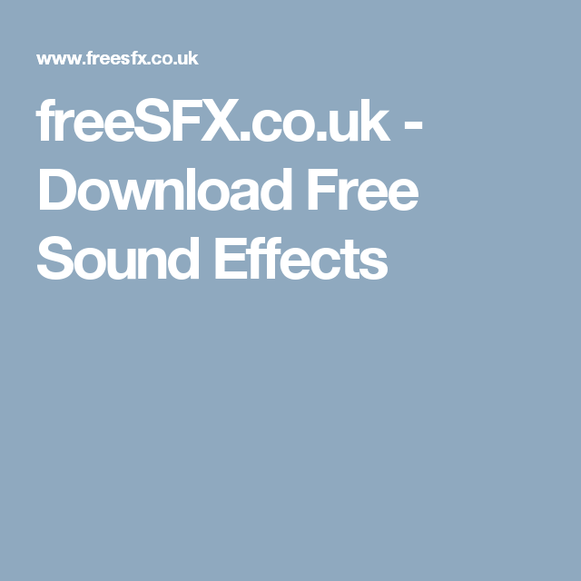 freeSFX co uk - Download Free Sound Effects | GAME ASSETS | Free