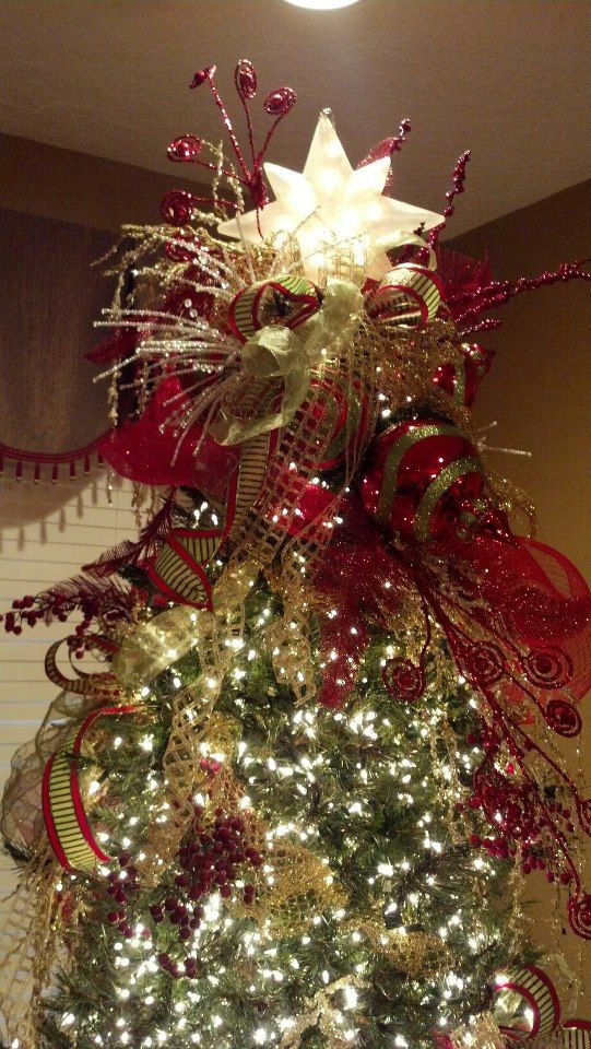 gorgeous tree topper- My mom\'s in Alabama | holiday -- christmas ...