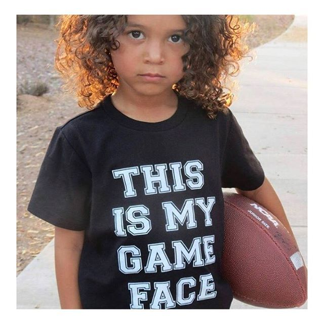 This dude has the cutest •GAME FACE• there is! 😍🙌🏻🏈 Did you get your •GAME FACE• tee yet?! • • • • • #cutekidsclub #igfashion #kidzootd #instagram_kids #trendykiddies #babiesofinstagram #kidzfashion #kidslookbook #kids_stylezz #thechildrenoftheworld #igkiddies #disney #slay #parenthood #mommy #mommylife #mom #momlife #allmommedout #ohiostate #buckeyes #ilovefootball #clevelandbrowns #nfl #football