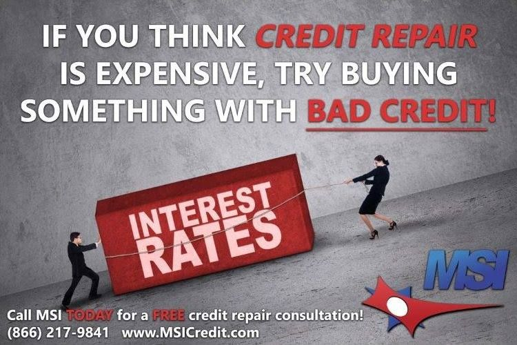 Credit repair is a longterm investment that will help you