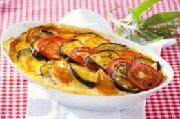 Aubergines et tomates gratinées
