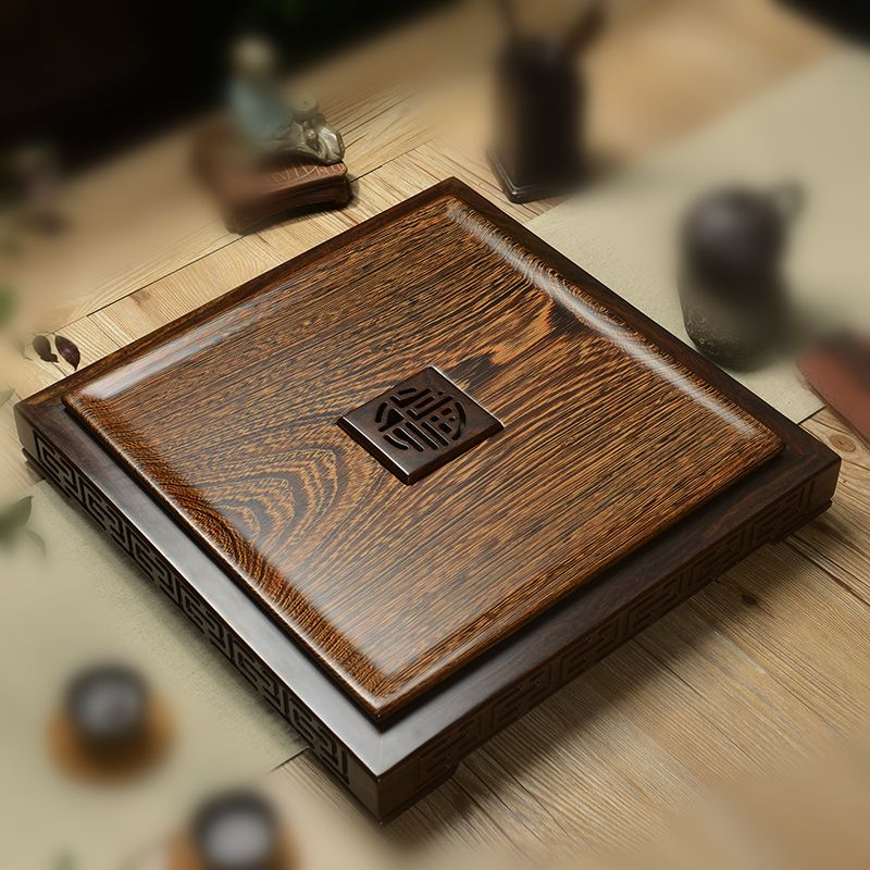 Boutique wenge tea tray in chinese square tea table wenge output
