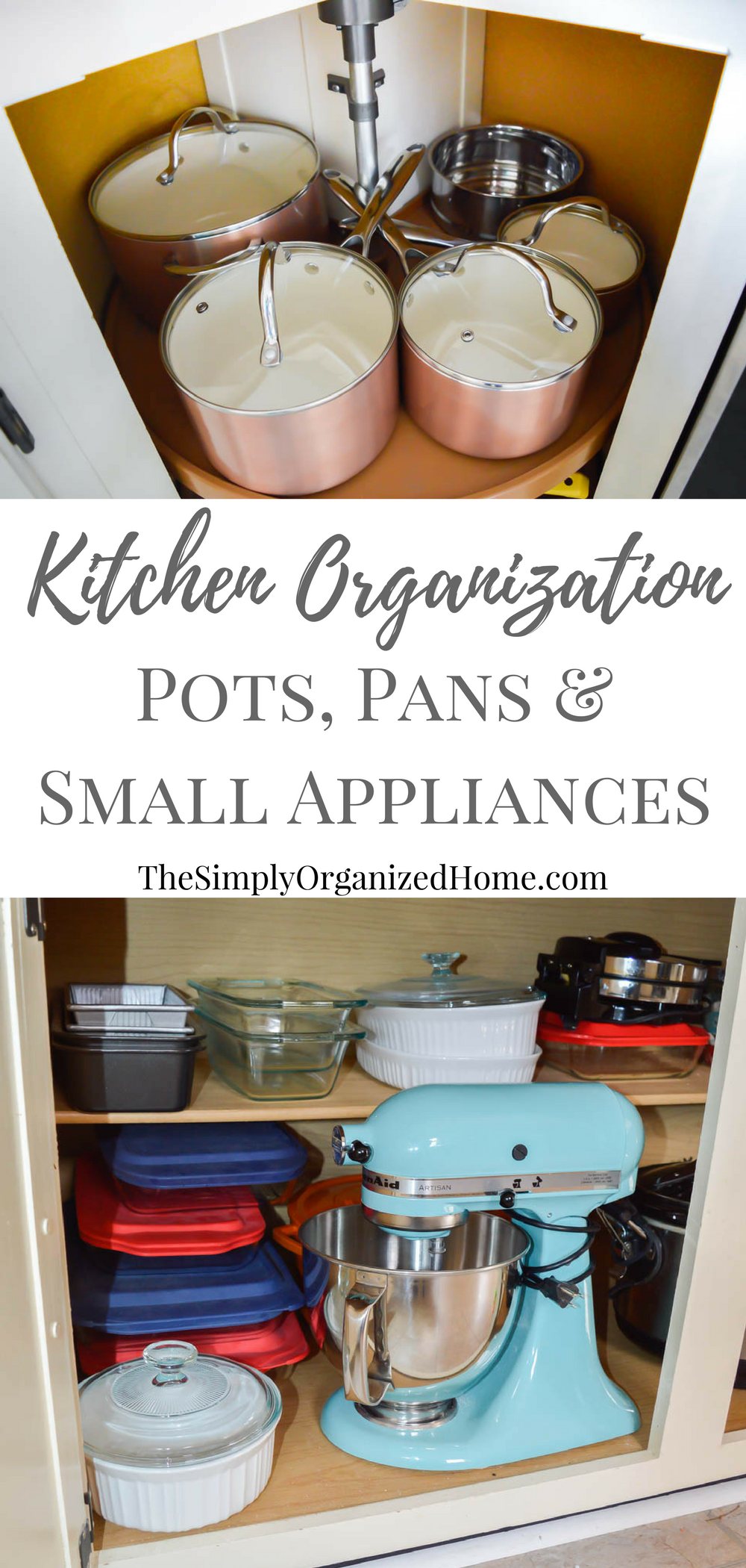 kitchen organization organizing pots pans small appliances with images pan storage diy on kitchen organization pots and pans id=34130