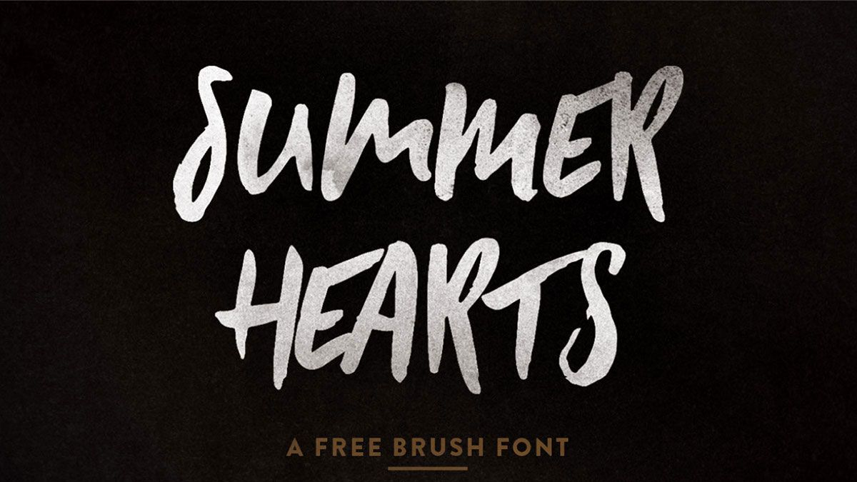 Lakeshore Brush Free Font Brush Font Paint Font Font Packs