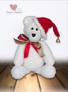 Haakpatroon Ijsbeer Met Kerstmuts Patronen Pinterest Amigurumi