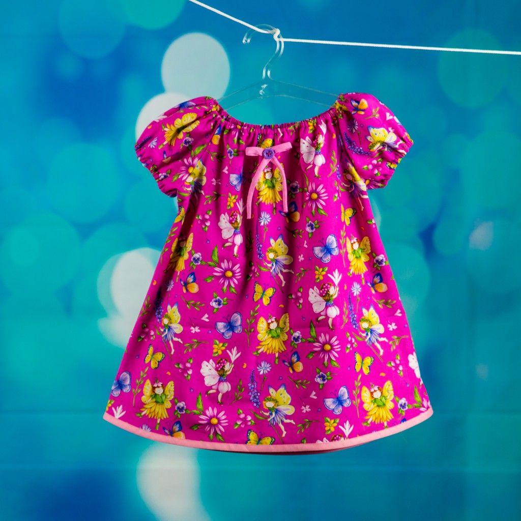 Bunte schnelle Kleidchen | Nähfrosch, Nähen für kinder und für Kinder