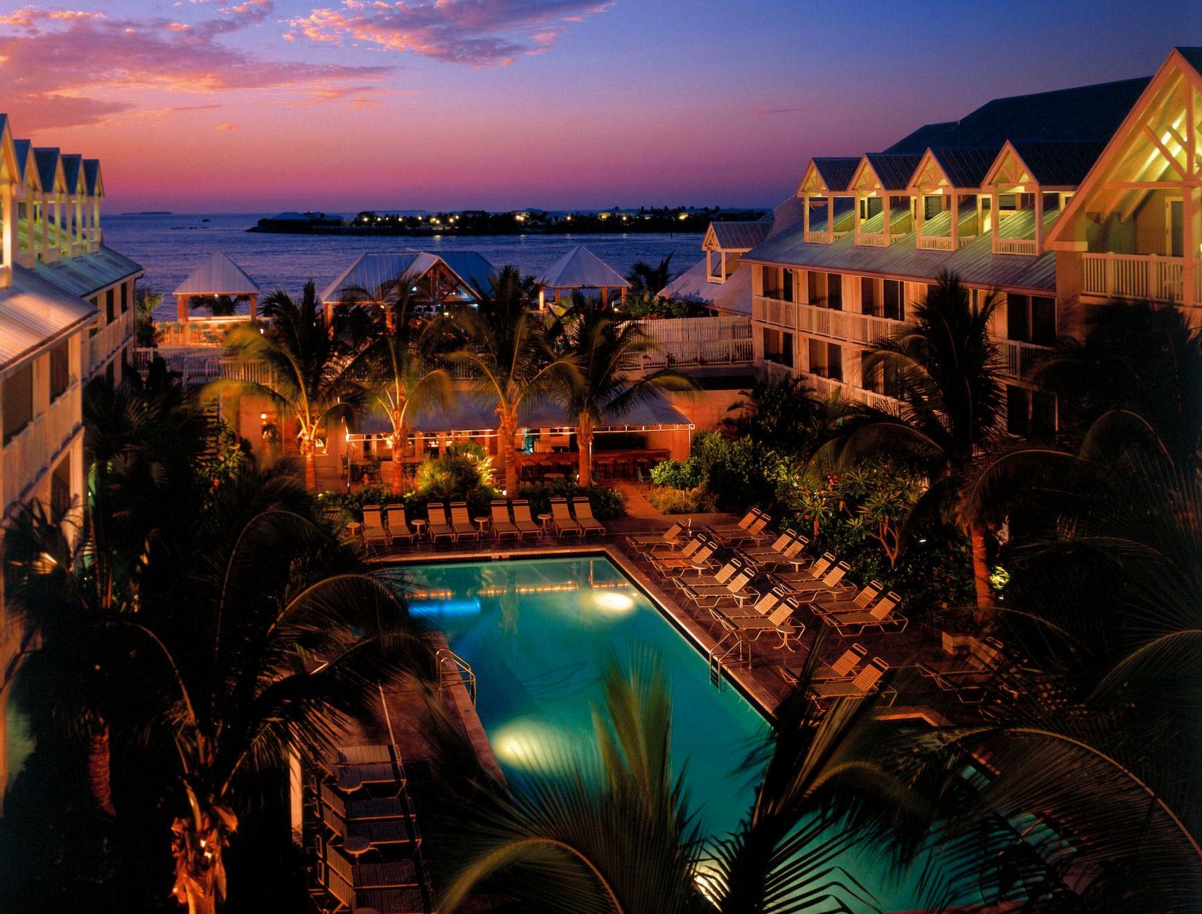 nighttime pool area at the westin key west resort  u0026 marina in key west florida  or for reservations  stayed here my first time to key west  key west vacation rentals or beachfront homes with good amenities      rh   pinterest