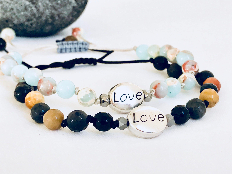 Mala Bracelets Love S Friends Yoga Gemstone Soulmate Valentines Set Of