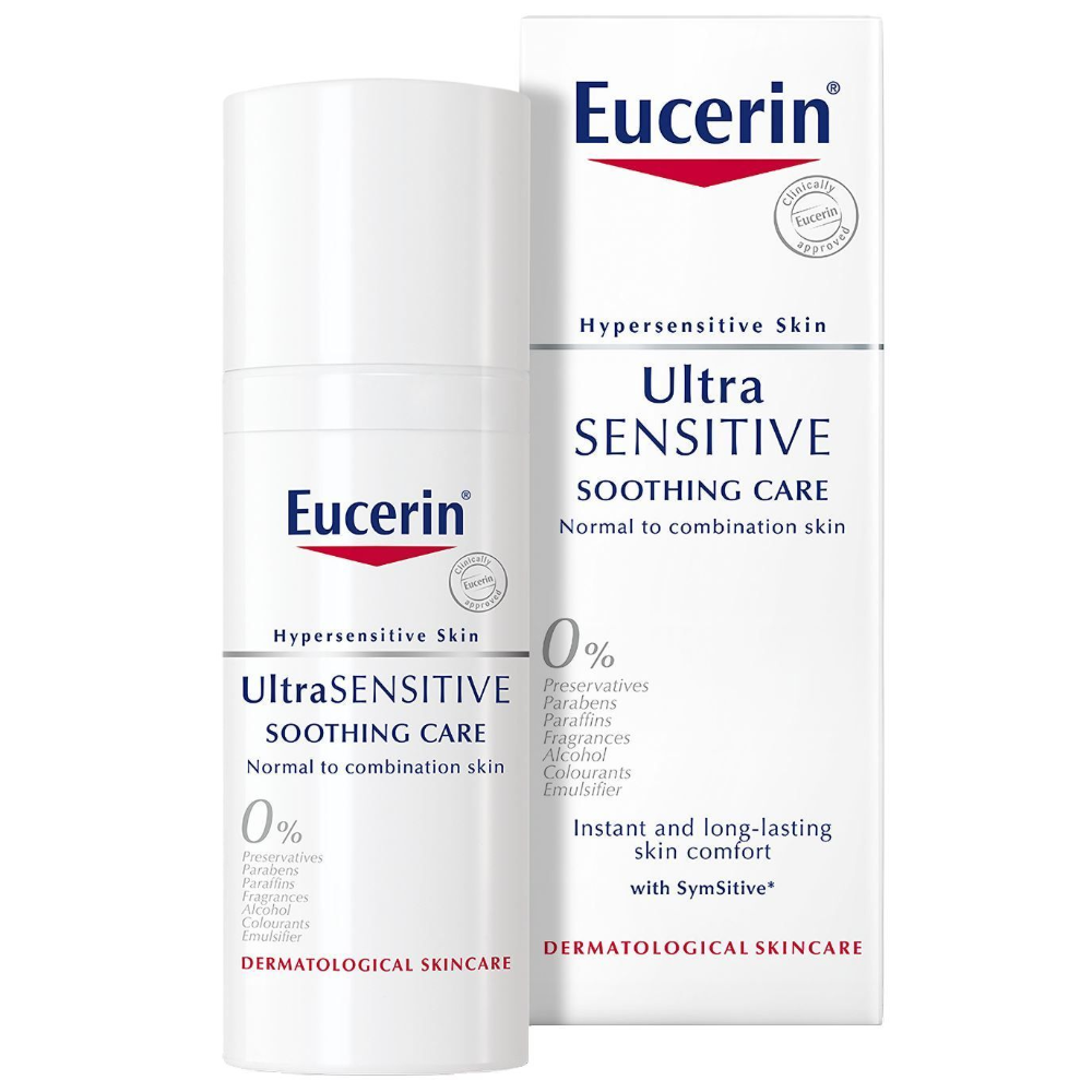 Eucerin Ultra Sensitive Soothing Care Normal To Combination Skin Rated 4 Out Of 5 On Makeupalley See 8 Member Reviews And Photo Anti Redness Eucerin Redness