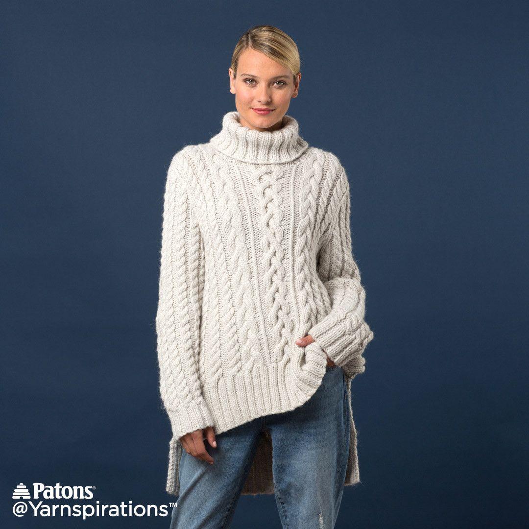 Split Hem Cable Knit Pullover | Knitting, Crochet and Fiber ...